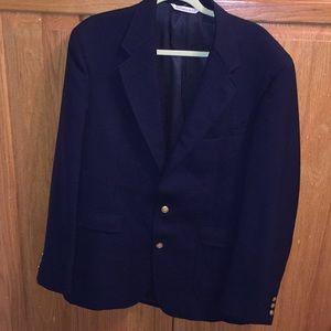 Navy Stafford 44 long jacket blazer